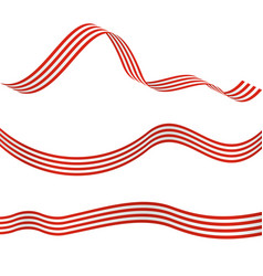 Striped ribbons decorative design elements vector