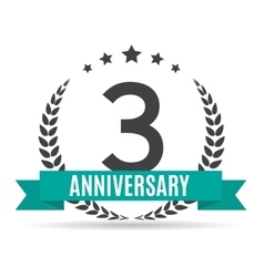 Template Logo 3 Years Anniversary vector
