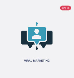 two color viral marketing icon from search engine vector image
