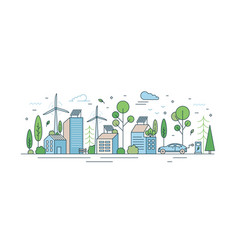 urban landscape with modern eco friendly vector image