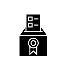 vote - voting - elections - poll icon vector image