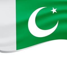 Waving flag of Pakistan isolated on white vector image