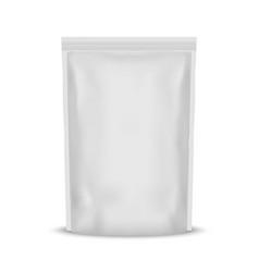 white blank foil food bag packaging vector image