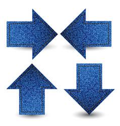 blue denim jean tag label vector image