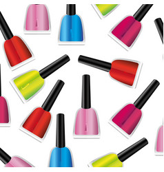 colored nails polish background icon vector image