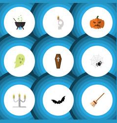 flat icon halloween set of pumpkin spinner vector image vector image