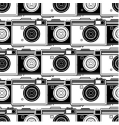 graphic camera pattern vector image