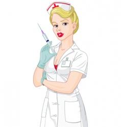 sexy nurse vector image vector image