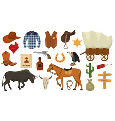 wild west western cowboy or sheriff signs vector image