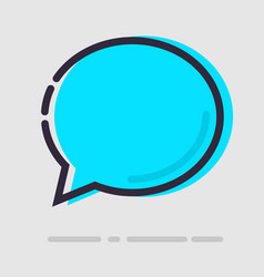 abstract flat blue chat icon vector image vector image