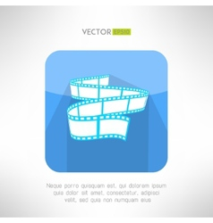 Cinema footage tape icon in modern clean and vector image