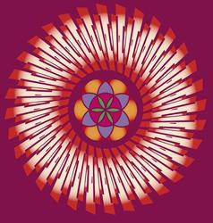 flower of life seed mandala vector image vector image
