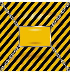 grunge black and yellow industrial blank sign vector image vector image