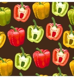 Peppers of different colors seamless vector image