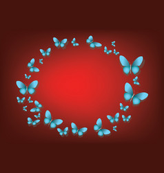 abstract red background with blue paper vector image vector image