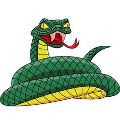 angry snake vector image