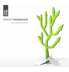 arrows tree - growth success concept vector image