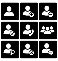 black people icon set vector image