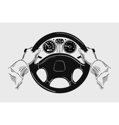 Car Hand drawn sketch driving vector image vector image