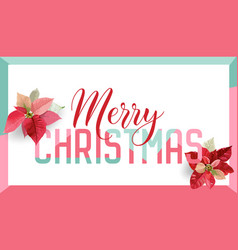 christmas winter poinsettia flower banner graphic vector image vector image