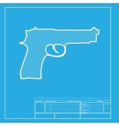 Gun sign White section of icon on vector image vector image