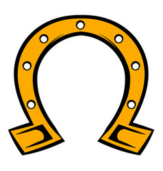 horseshoe icon icon cartoon vector image