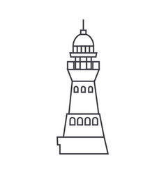 lighthouse line icon sign on vector image vector image