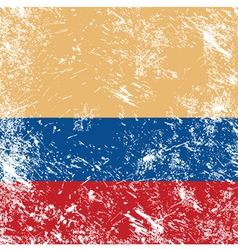Colombia retro flag vector image