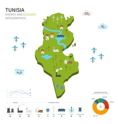 Energy industry and ecology of tunisia vector