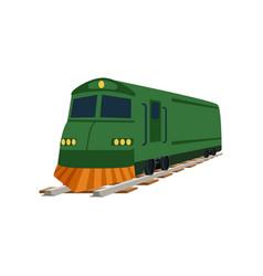 Green cargo or passenger train locomotive vector