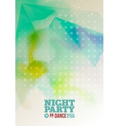 Night party Flyer Template vector image