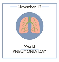 Pneumonia Day vector image