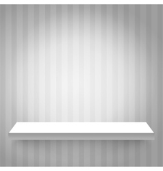 Shelf on the wall vector image