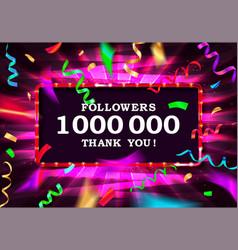 1000000 filers thanks gold frame vector