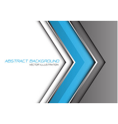 abstract blue grey silver line arrow direction vector image