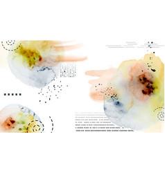 Abstract geometric modern design on splatter vector