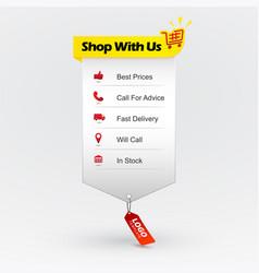 Benefits buying online shopping web design vector