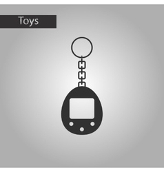 Black and white style toy retro electric vector