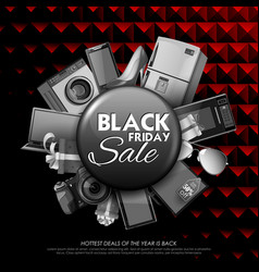 black friday sale shopping offer and promotion vector image