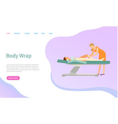 Body wrap beauty procedure and skin treatment vector