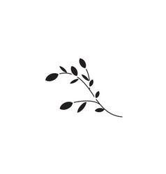 botany black concept icon botany flat vector image