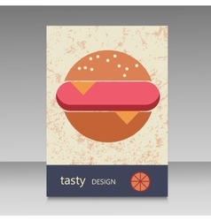 Brochure design for burger menu vector