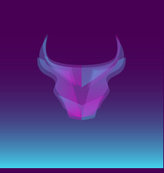 bull head abstract concept vector image