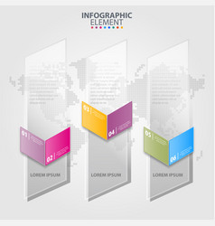 business infographics transparancy design elements vector image
