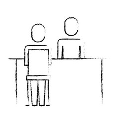 business people meeting interview professional vector image
