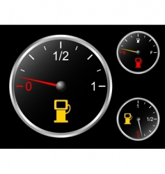 Car's fuel gage vector