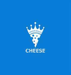 cheese logo design template vector image