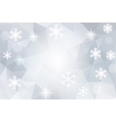 Christmas abstract polygonal cosmic background vector image