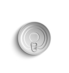 closed food metal tin can top view 3d realistic vector image