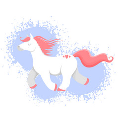 colorful horse unicorn or vector image